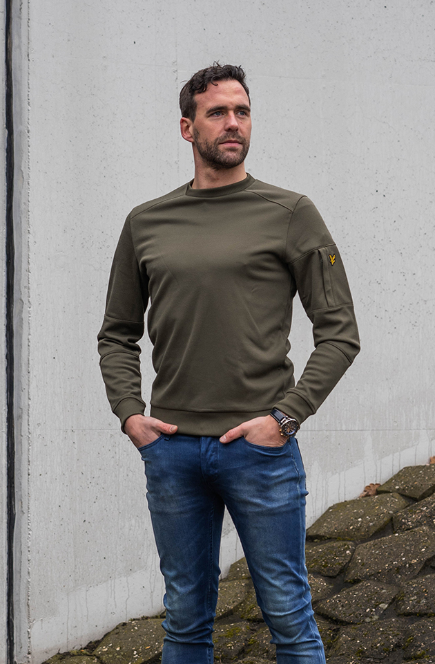 Lyle and Scott Sweater Groen sweater kopen | Hans voortman